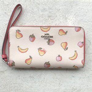 COACH Fruit Zip CELL CASE WRISTLET WALLET CLUTCH